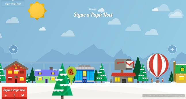 Google crea una aplicación para seguir el viaje de Papá Noel