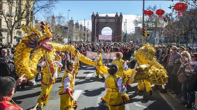 Panor�mica del desfile del A�o Nuevo chino.