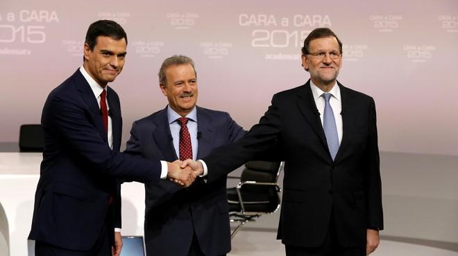 Rajoy y Sánchez aprovechan el tirón del debate para distanciarse de Iglesias y Rivera en las redes
