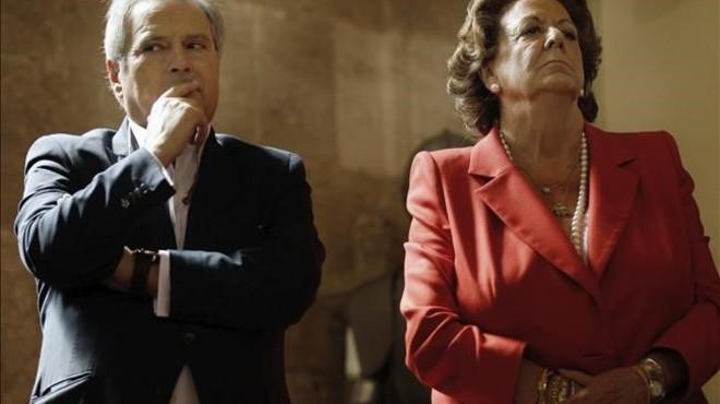 Rita Barber� y el exalcalde de X�tiva, Alfonso Rus, en una imagen de archivo.
