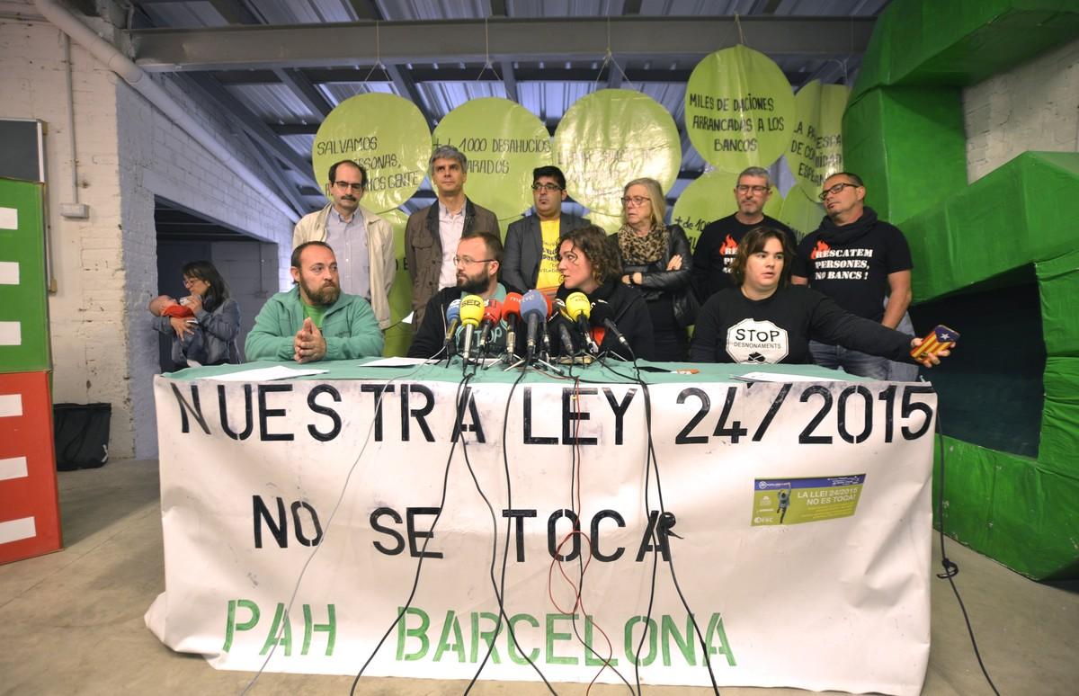 La ley recurrida por el Gobierno ha evitado 639 desahucios en Barcelona solo en el 2016