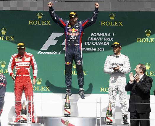 Vettel se pasea en Montreal