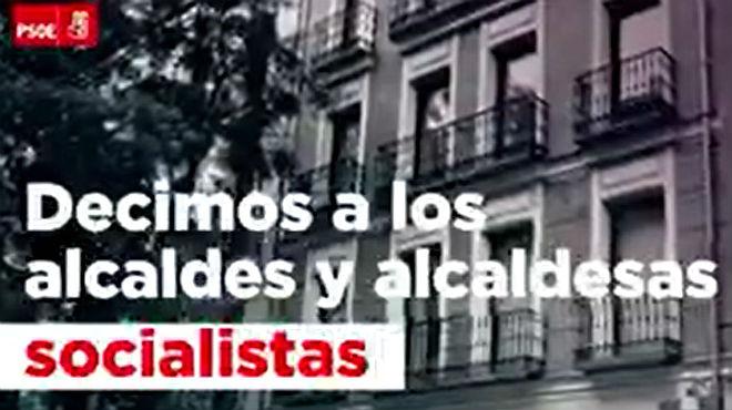 El PSOE emite un vídeo en defensa de los alcaldes del PSC ante el 1-0