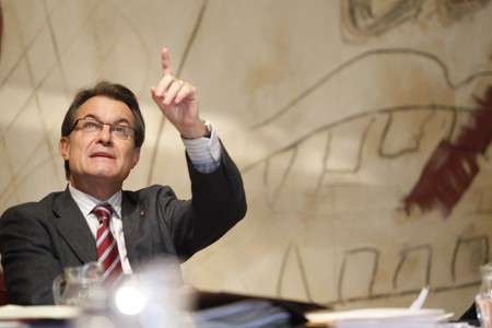 Artur Mas, el martes, durante la reunin del Consell de Govern. 