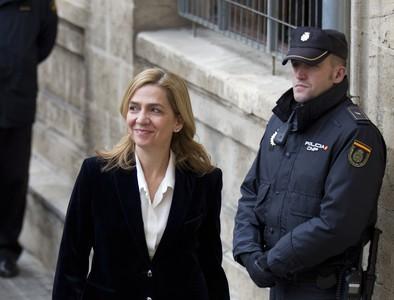 La infanta Cristina a su llegada a los juzgados de Palma, en los que declar� el 8 de febrero.