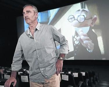 El director Javier Fesser, ayer en el cine donde se llev� a cabo el preestreno de la pel�cula.