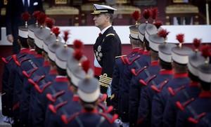 Felipe VI, en el desfile militar del 12 de octubre en Madrid.