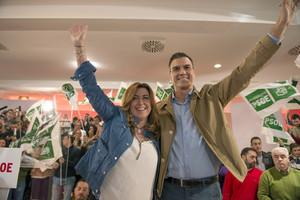 Pedro Sánchez y Susana Díaz participan en un acto electoral en Jaén