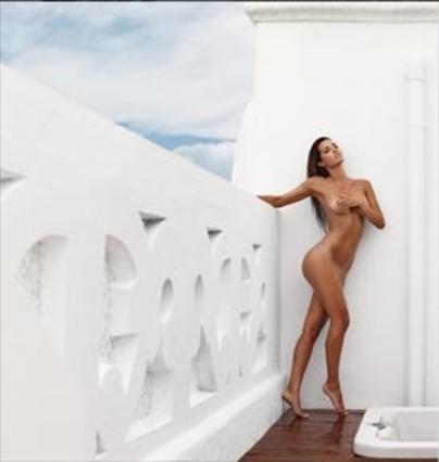 Malena Costa, desnuda, en una foto en Instagram.