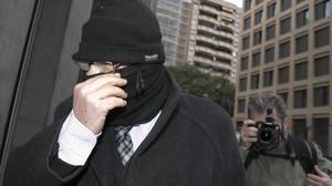 Joaquím Benítez, el pasado 29 de febrero, entrando en el Instituto de Medicina Legal de Catalunya,