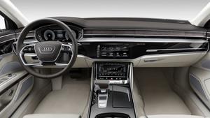 Interior del Audi A8 en su versión larga.