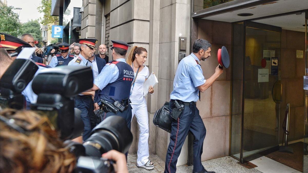 El major de los Mossos, Joan Carles Trapero, entra en la Fiscalía.