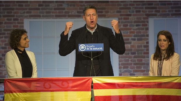 Xavier García Albiol, en lacte dinici de campanya
