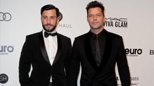 Ricky Martin y Jwan Yosef, en febrero pasado.
