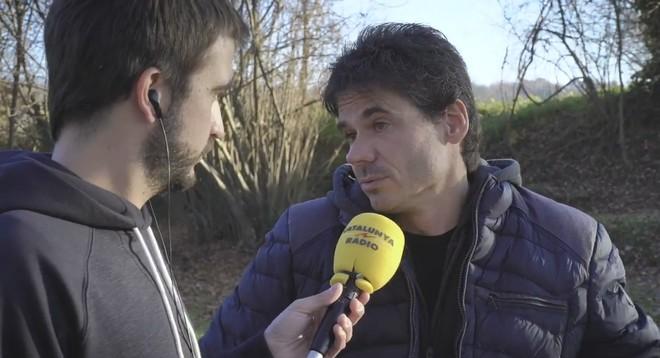 Àlex Crivillé, durante la entrevista con 'El suplement' de Catalunya Ràdio.