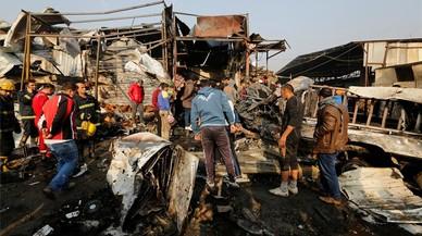 Almenys 12 morts en un atemptat amb cotxe bomba a Bagdad