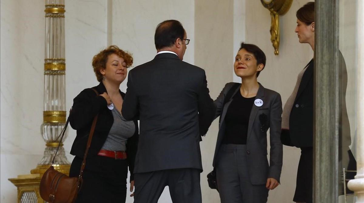 Hollande escucha las quejas de las v�ctimas de los atentados de Par�s