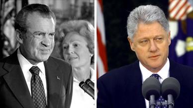 Nixon y Clinton, los precedentes inmediatos del posible 'impeachment' a Trump