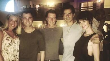 Paz Vega disfruta de la festa eivissenca en companyia de Nieto i Colate