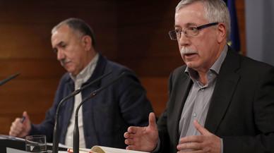 CCOO i UGT responen a les línies vermelles de Rajoy amb una gran manifestació el 18-D
