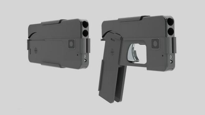 Así es la pistola enforma de 'smartphone'.
