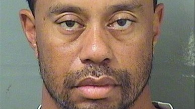 Woods, en la ficha policial del condado de Palm Beach.