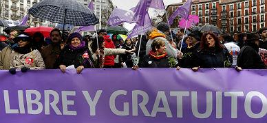 Manifestación de rechazo a la contrarreforma de Gallardón, el pasado febrero en Madrid.