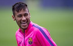Neymar, en el entreno de este martes.