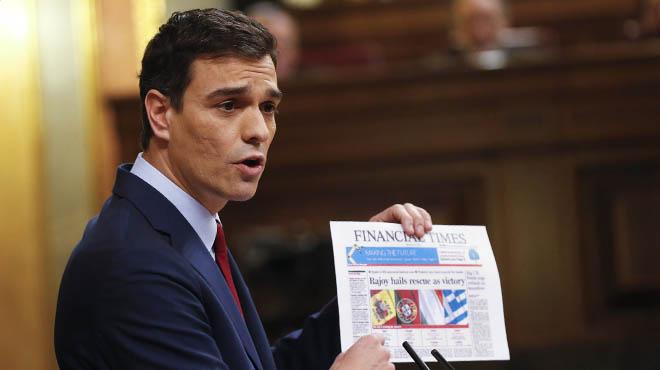 Sánchez acusa Rajoy de mentir sobre el rescat i dusar-lo per Salvar el soldat Rato