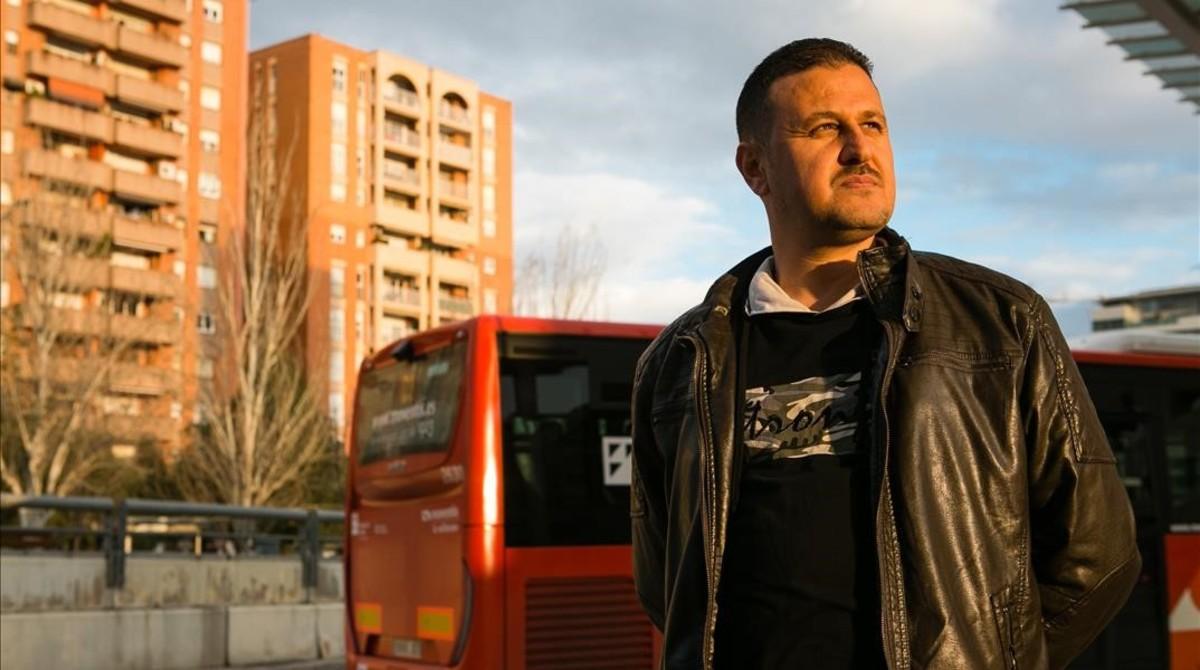Saad Alahmad, cerca de la estación de tren de Sabadell, este jueves.