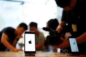 Un iPhone 7 en una tienda de Apple en Pekín.