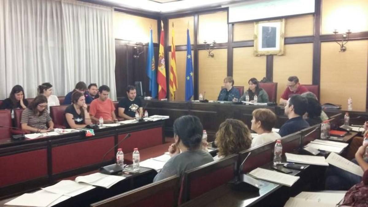 El pleno municipal de Santa Coloma de mayo, celebrado este pasado lunes.