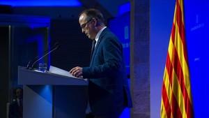 Turull rechaza el despliegue policial del Estado en Catalunya