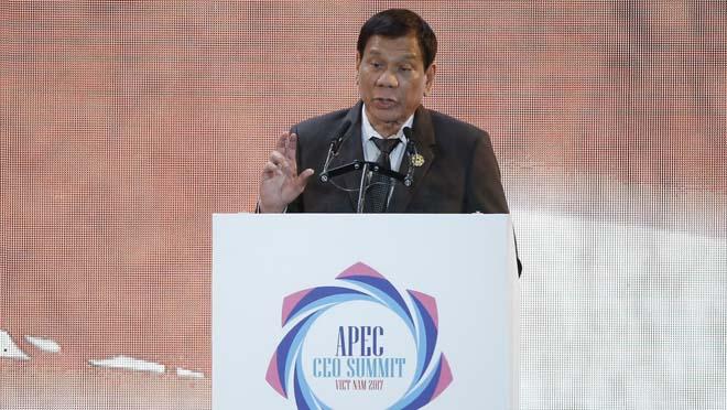 Duterte diu al Vietnam que va matar quan tenia 16 anys.