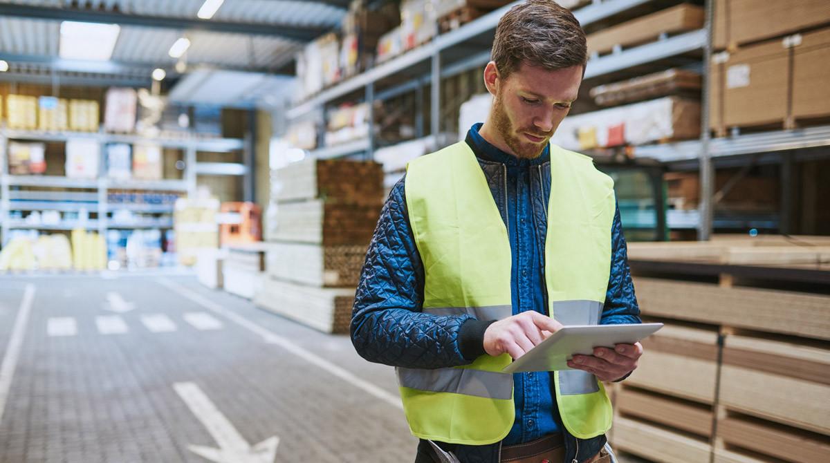 Control de un negocio a través de una tableta móvil