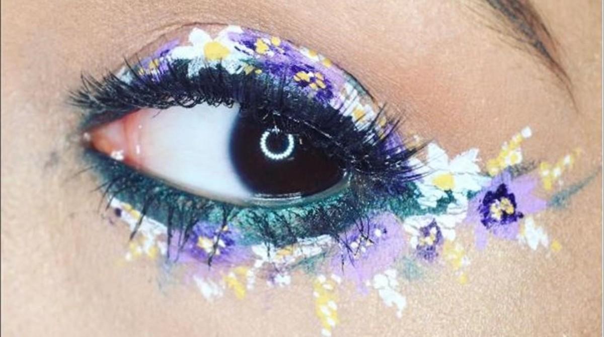 El 'eyeliner' floral se impone en el Festival de Coachella