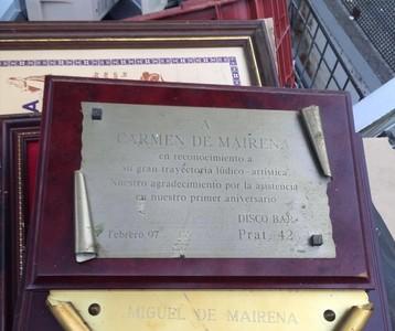 Los recuerdos de Carmen de Mairena, junto a un contenedor