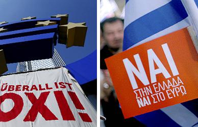 Grecia se acerca al refer�ndum inmersa en una divisi�n total