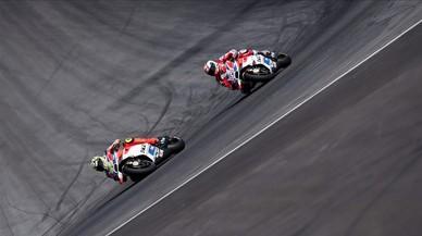 Concert en 'rosso' de les Ducati al GP d'Àustria