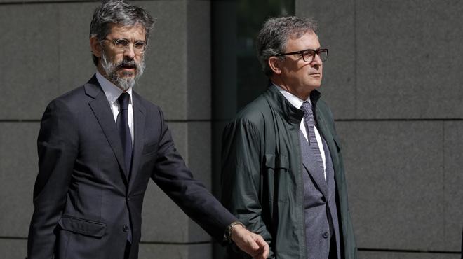 Jordi Pujol Ferrusola (derecha), a su llegada a la Audiencia Nacional.