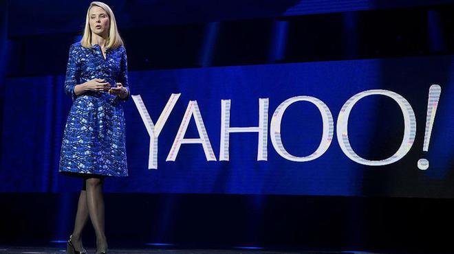Marissa Mayer, consejera delegada de Yahoo, en un acto en la feria de electr�nica de Las Vegas en el 2014.