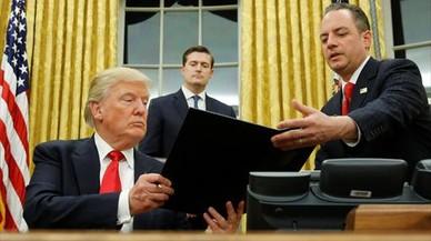 Trump inicia su primera semana laboral con una apretada agenda