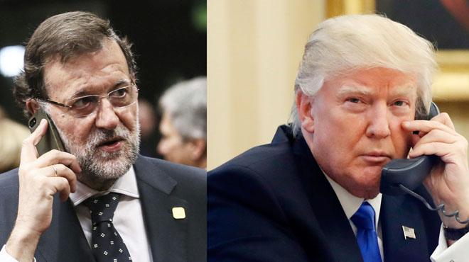 """Rajoy s'ofereix a Trump per ser el seu """"interlocutor"""" a Europa"""