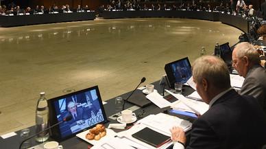Reunion del Ecofin en Bruselas.
