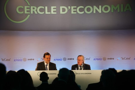 Rajoy y Piqu, en la reunin del Cercle d'Economia en Sitges.