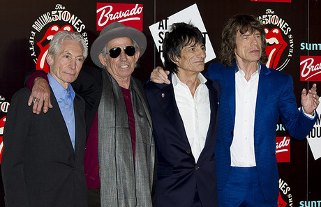 Charlie Watts, Keith Richards, Ronnie Wood y Mick Jagger, en Londres, el pasado julio.