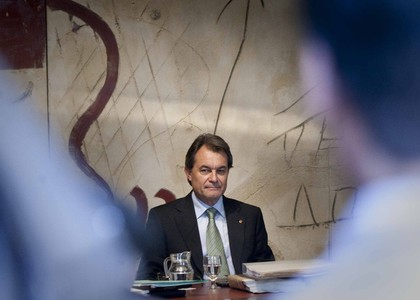 Artur Mas, en una pasada reunin de la Ejecutiva del Govern de la Generalitat en el Palau.