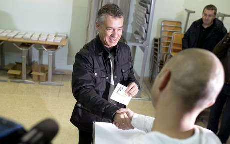 Inigo Urkullu en pleno voto.