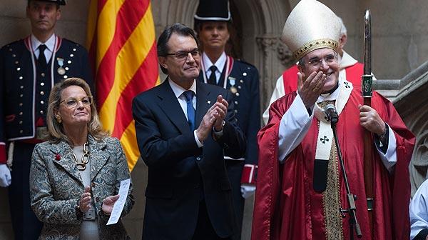 Acto institucional en la Generalitat con motivo de Sant Jordi