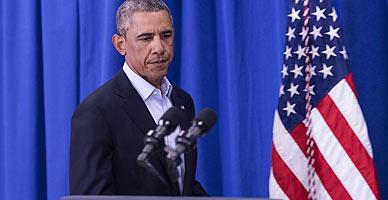 Barack Obama, durante la rueda de prensa.